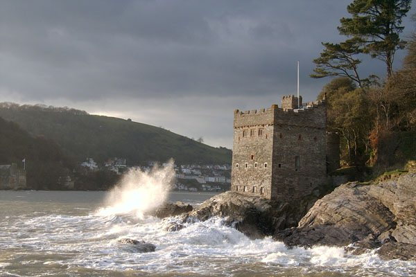Kingswear Castle and wave