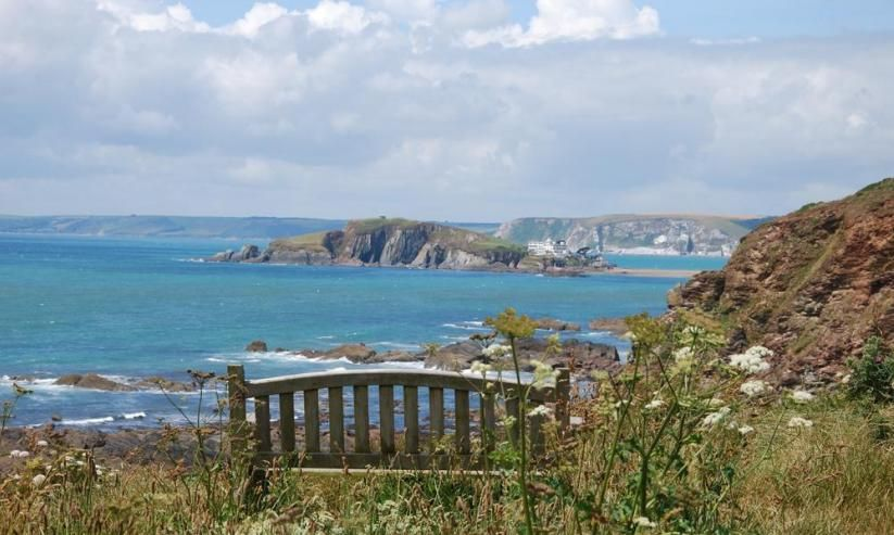 Great views from the National Trust path